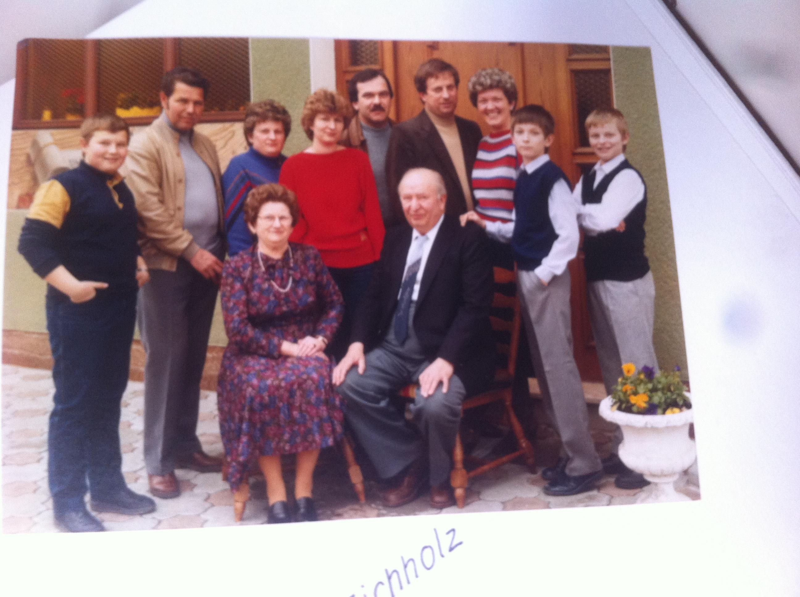 Melchior Eichholz und Familie 1983
